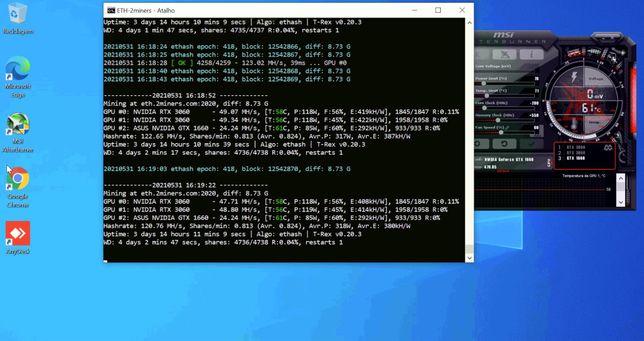 Rig 2 grafica RTX3060 e uma GTX1660