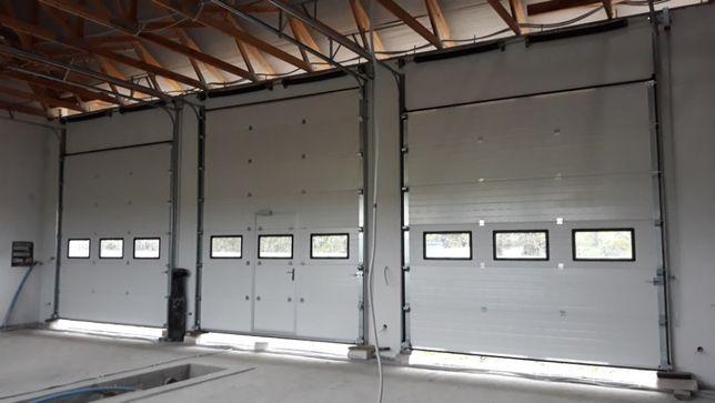 Brama segmentowa garażowa przemysłowa bramy garażowe Poniatowa