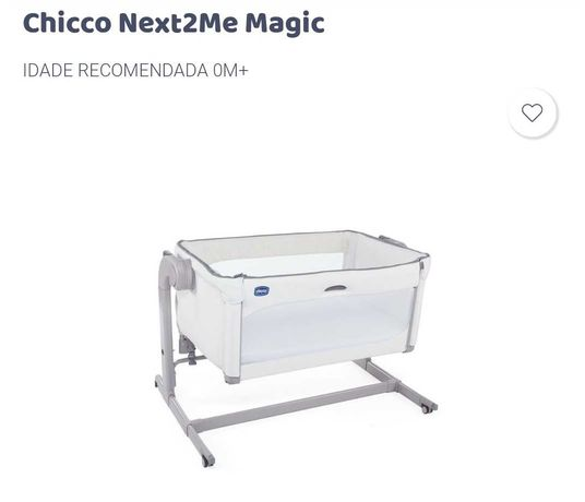 Berço Chicco Next to Me Magic