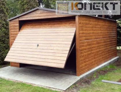Garaż Blaszany 4x6 4x4 5x5 7x6 3x5 9x6 6x6 Wiata Garaż Drewnopodobny