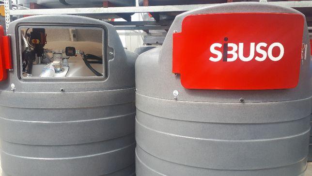 Nowość ;;; Zbiornik do paliwa dwupłaszczowy SIBUSO 2500L, Promocja !!