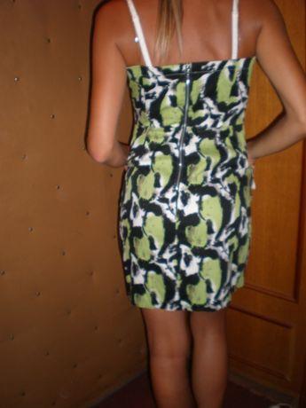 Платье-футляр на бретелях.Сарафан c карманами.