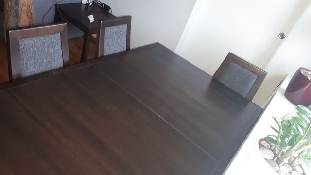 Stół + 4 krzesła wenge