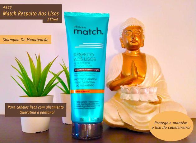 Shampoo Match Respeito aos Lisos - Boticário