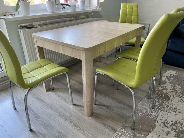 Stół rozkładany 130-180cm z 4 krzesłami