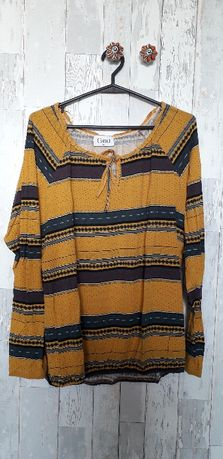 Bluzka etniczna tania we wzory żółta ciąża roz. 42