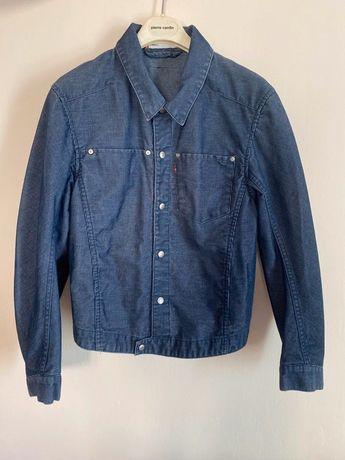 Granatowa jeansowa niebieska sztruksowa kurtka katana Vintage Levi's