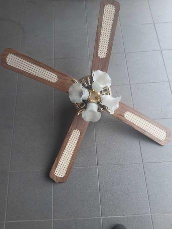 Żyrandol wiatrak wentylator lampa