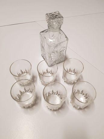 Conjunto de 6 copos + garrafa Whisky