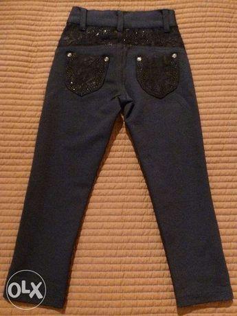 Брюки-джинсы для девочки 4-6 лет, 110см.