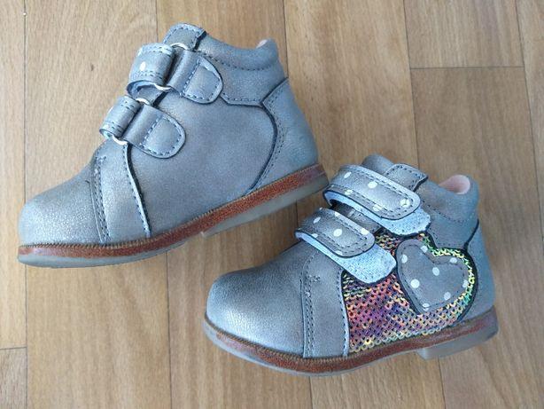 Ботинки детские Ladabb р.19(13.5 см) кожа с ортопед.стелькой!