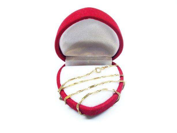 Złoty łańcuszek o splocie singapur z blaszkami p.585 2,39g