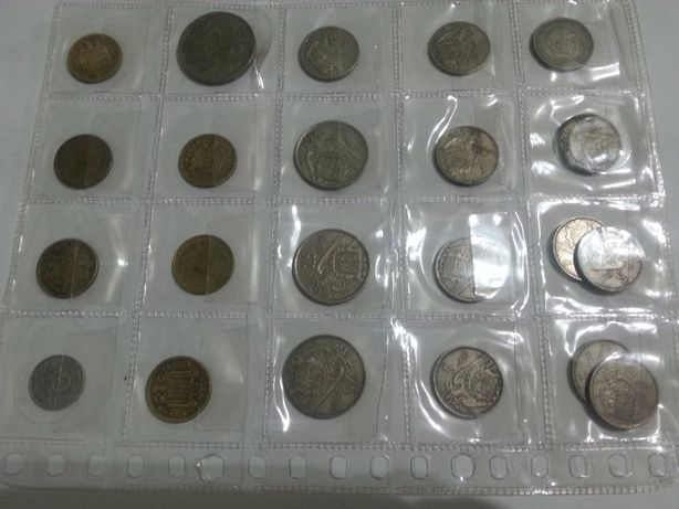 22 moedas francisco franco caudilho de espanha