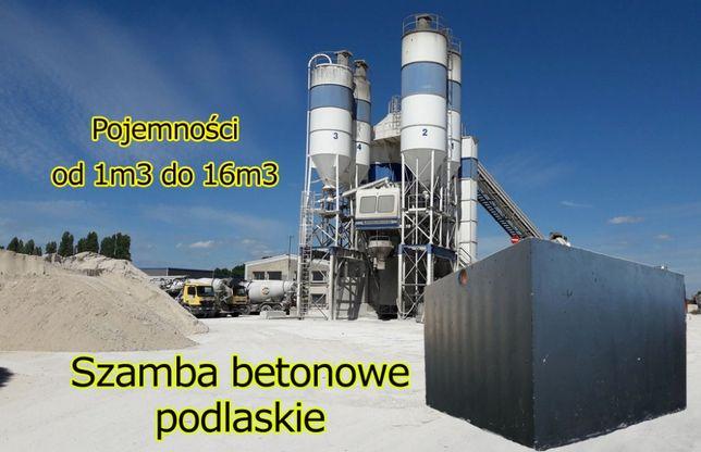 Szamba betonowe 6m3 zbiornik na szambo5 zbiorniki deszczówkę 10 12 8 4