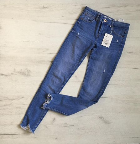 джинсы скинни женские Bershka xs, джинси жіночі супер скінні Bershka,