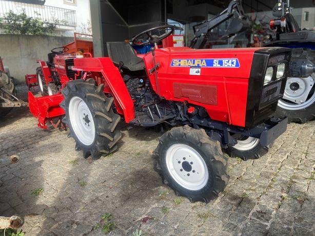 Trator usado shibaura tração 4 rodas com fresa