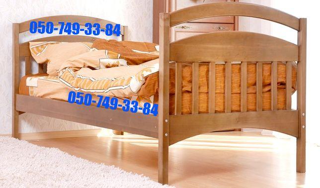 Односпальная кровать без бортов *Карина* с ольхи.Комплект по акции