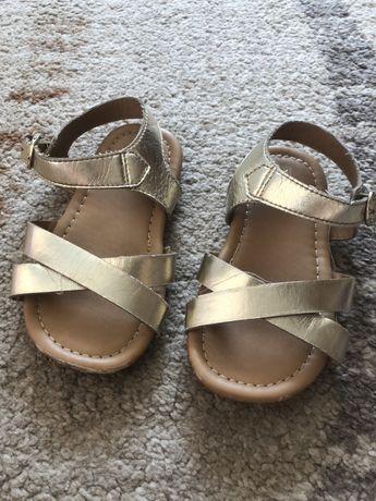 Sandałki złote r.25.5