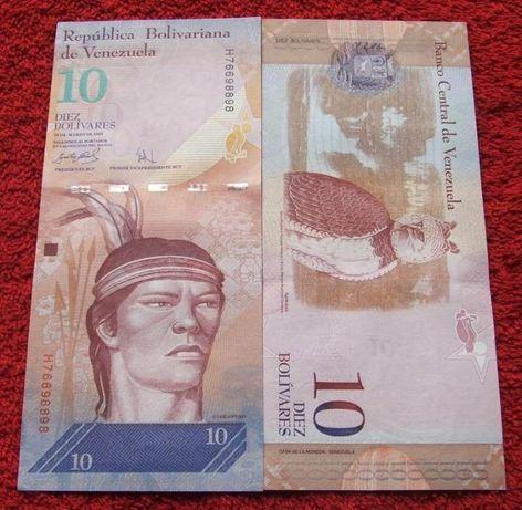 WENEZUELA 10 Bolivarów INDIANIN Kolekcjonerski Banknot - 1 sztuka UNC