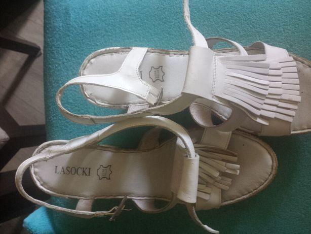 Sandały damskie białe