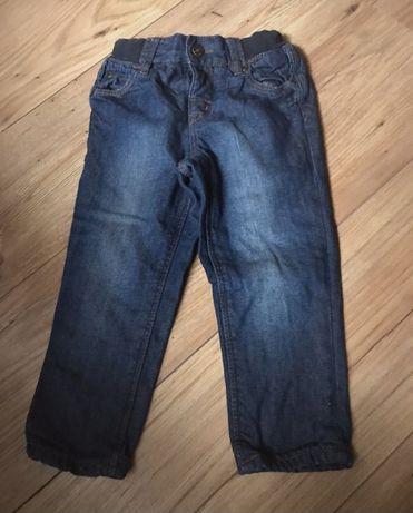 jeansy H&M spodnie z podszewką 92