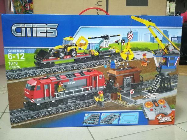 Конструктор Город Грузовой поезд K8014 - аналог LEGO City 60098 Пульт