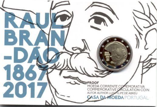 Raul Brandão 2017 Proof - Portugal 2€ Proof