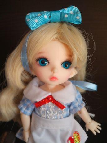 ZESTAW lalka bjd 1/8 2xMAKE UP + wig+strój