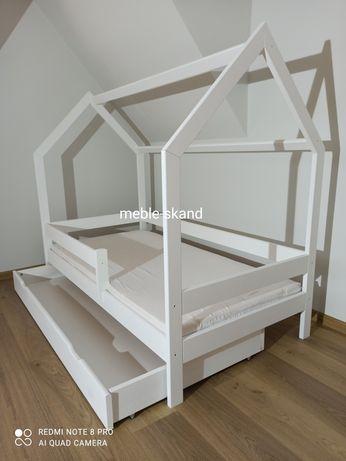 OD RĘKI - 160x80 Łóżko domek białe Z SZUFLADĄ - OD RĘKI- 100% DREWNO