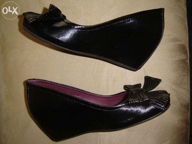 sapatos Prof pretos como novos
