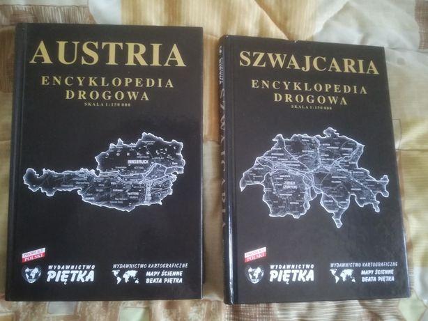 encyklopedia drogowa Austria Szwajcaria skala 1:150 000 Piętka atlas