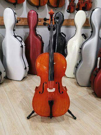 Wiolonczela lutnicza 4/4 no.700 koncertowa, mistrzowskie brzmienie!