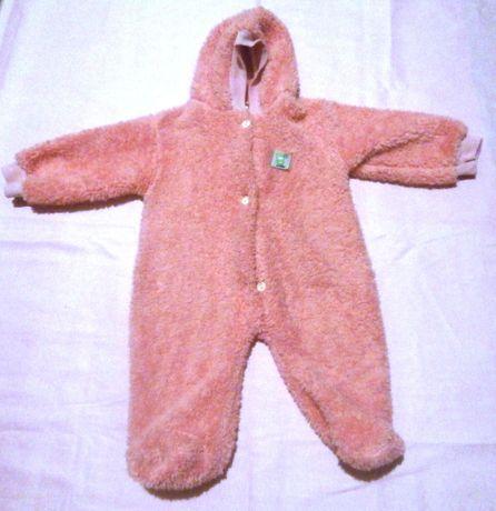 Махровий комбінезон для новонароджених з капюшоном
