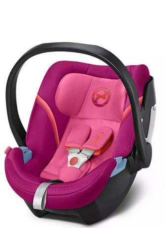 Cybex aton 5 fotelik samochodowy nosidełko nowy rozowy
