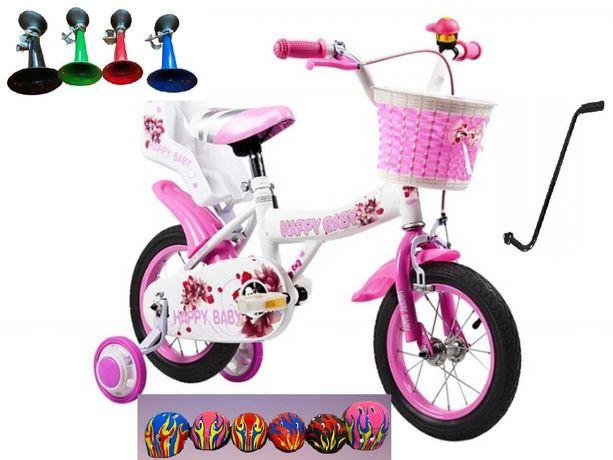 Rower dziecięcy Azaris Happy Baby 12 cali KASK PROWADNIK KÓŁKA BOCZNE