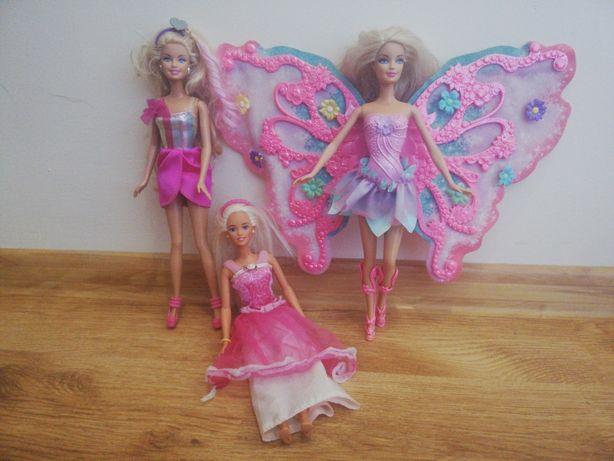Lalki Barbie latająca wróżka, Barbie Fryzjerka + książka + lalka