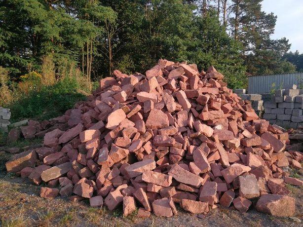 Kamienie piaskowiec czerwony. Kamień dekoracyjny. 100zl / Tona