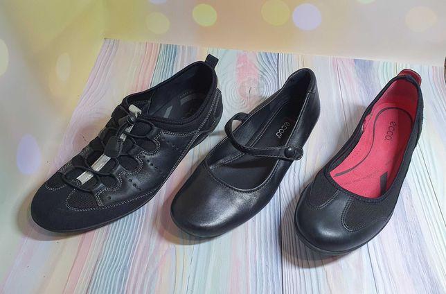 Туфли, балетки Ессо 3 пары 38р и 40рр кожа б/у в идеале