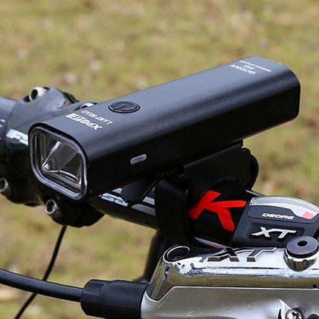 Велофара 400лм с СТГ встроенная usb зарядка Новая
