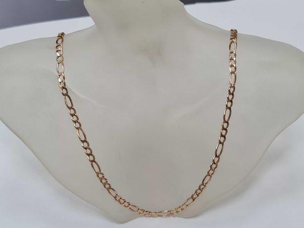 Pełny złoty łańcuszek męski/ Figaro/ 585/ 11.17 gram/ 52cm/ sklep