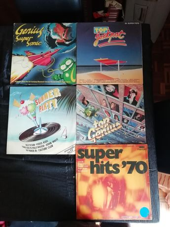 5 LP VINIL Musica Anos 70, 80 … Super Hits, Summer Party, Top Genius,