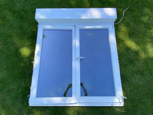 Okno dębowe 147x168cm + roleta