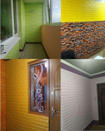 Декоративные панели обои под кирпич 3д самоклейка лофт под камень
