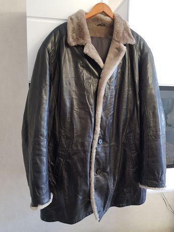 Дублёнка, куртка мужская кожаная натуральная с мехом размер 62