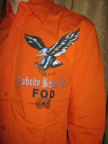 Хлопковая Модная НОВАЯ Молодежная Рубашка размер С,М,Л. длинный рукав