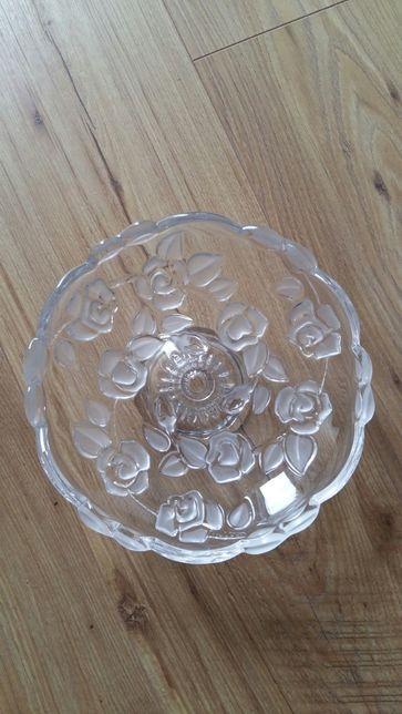 Kryształowa patera na ciastka 18 cm