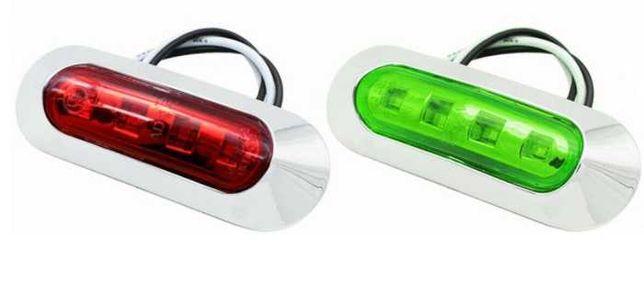 Zestaw Lampa nawigacyjna 2 sztuki czerwona zielona