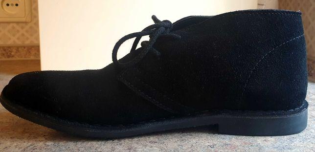 Натуральные замшевые ботинки 45 размер