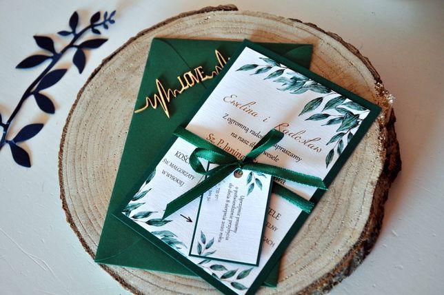Zaproszenie Greenery Eukaliptus