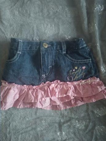 Фірмова джинсова юбка-шорти